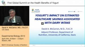3.Yogurt's impact on estimated Healthcare Savings