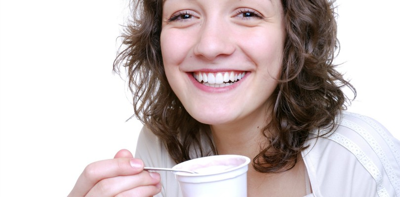 lactose - yogurt - young woman