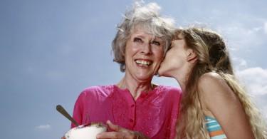 old woman - yogurt