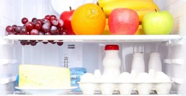 Healthy food in a fridge