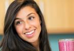 Woman-Fruit-smoothie-yogurt