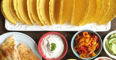 Smoky salmon tacos with Greek yogurt sauce