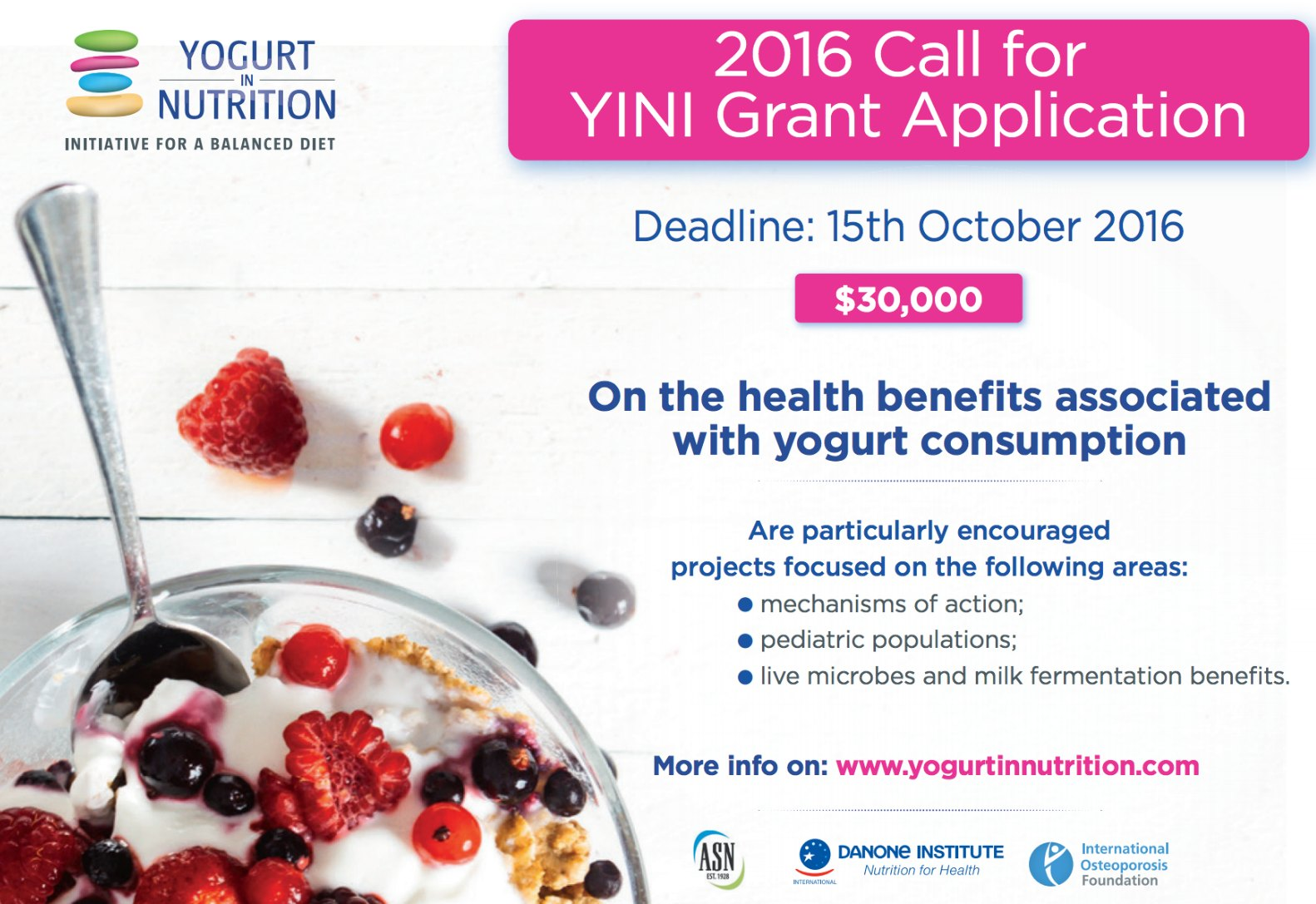 2016 Call for YINI Research Proposals Yogurt in Nutrition – Research Proposals