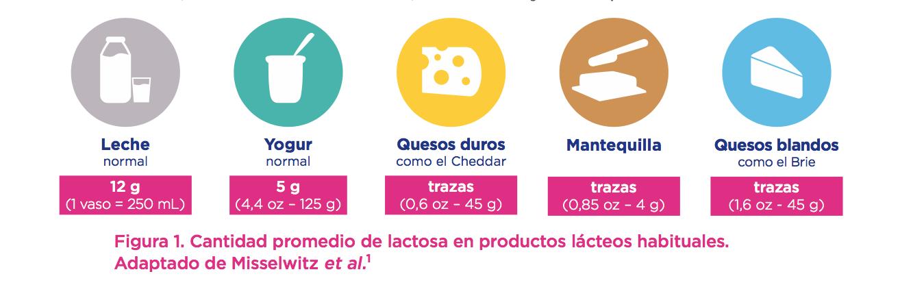 figura-1 cantidad promedio de lactosa en productos lacteos habituales