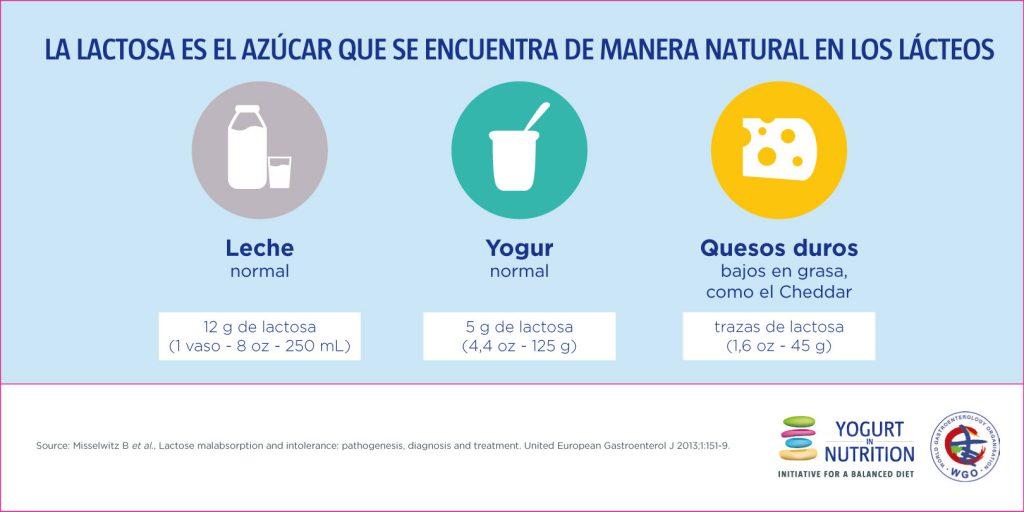 La lactosa es el azucar que se encuentra de manera natural en los lacteos