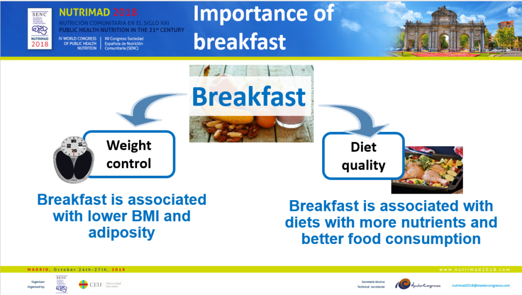 Importance of breakfast for weight control and diet quality - AM Lopez Sobaler @NutrimadYINISymposium 2018