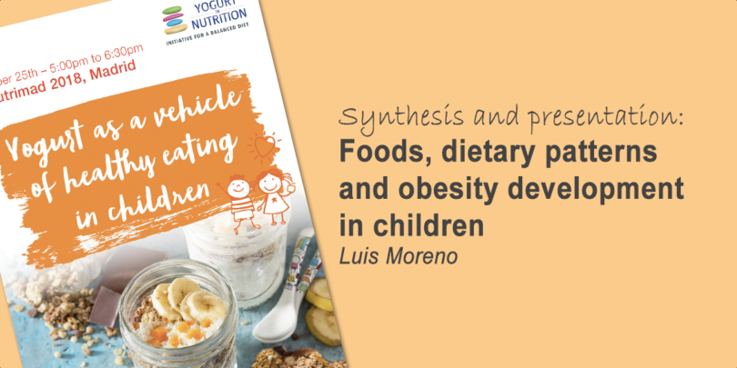 "Foods, dietary patterns and obesity in children - Luis Moreno""s conference 2018"