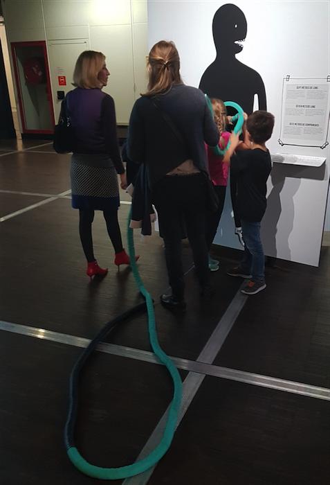 Microbiota exhibition - Cité des Sciences - Paris - the gut rope
