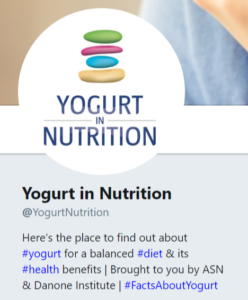 YINI twitter account @yogurtinnutrition