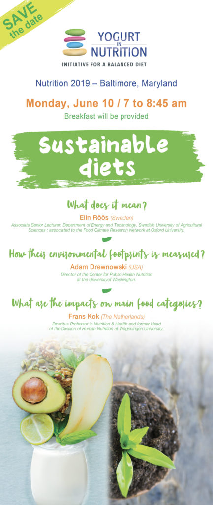 YINI Save the date - Sustainable diets - vlong