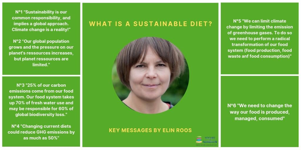 Elin Roos key messages on sustainable diets - YINI symposium