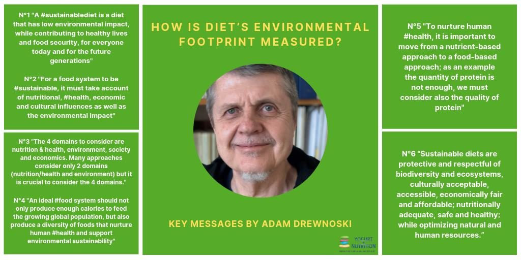 Adam Drewnowski's key messages on sustainable diets - YINI symposium