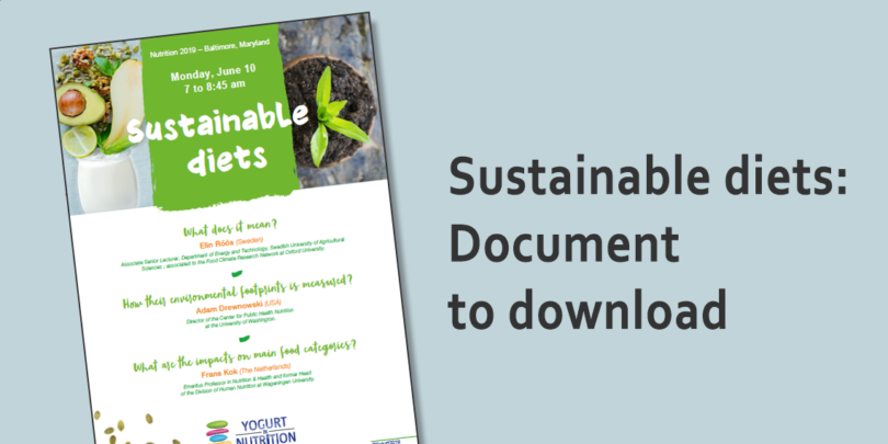 YINI - Sustainable diets - download our dedicated leaflet