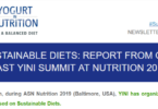 YINI NL June 2019 - report from last symposium about sustainable diets