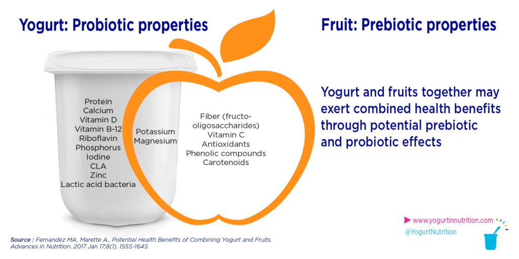 Yogurt and fruits : a probiotic prebiotic association - YINI
