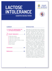 Lactose Intolerance - review - document to download