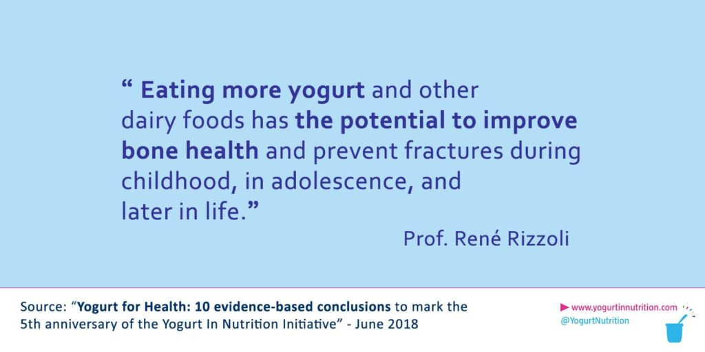 Rizzoli - Yogurt is linked to healthy growth of bones during childhood and adolescence