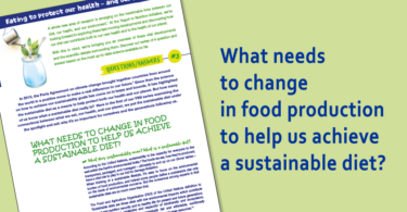 What needs to change in food production to help us achieve a sustainable diet?