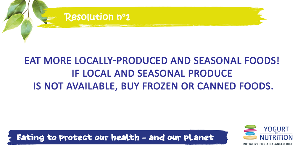 Sustainable diet - resolution 1 - eat local and respect the season