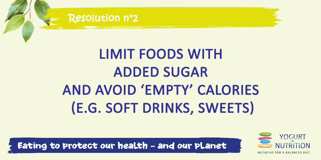 Resolution #2 - Limit foods with added sugar