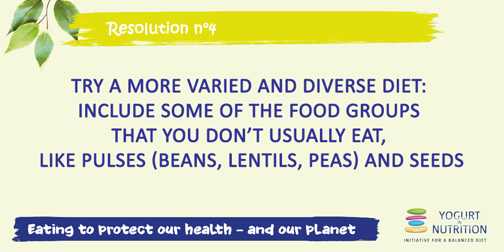 Resolution #4 for a sustainable diet: try a more varied and diverse diet