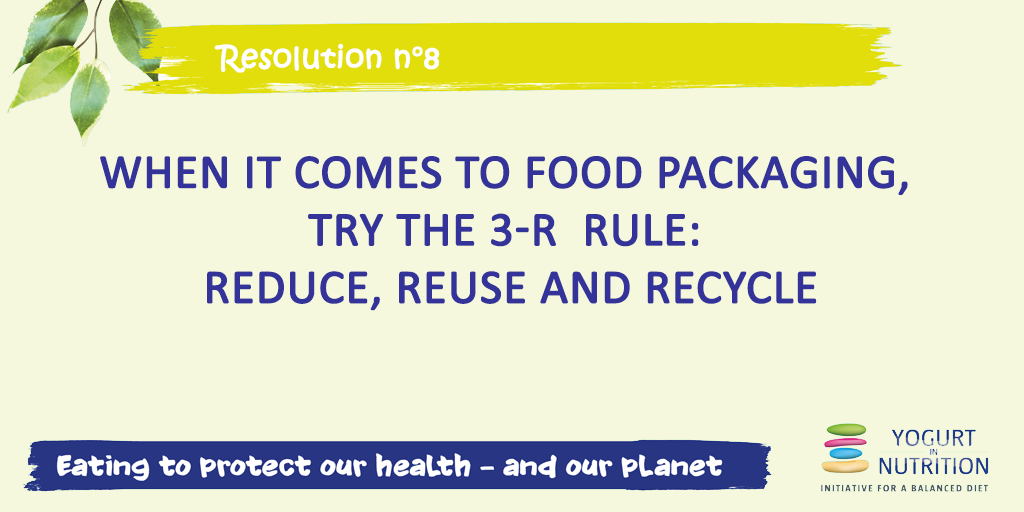 Resolution for healthy sustainable diet : 3 R
