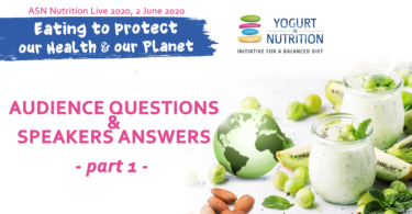 eating to protect our health and our planet - Q&A part 1