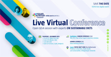 Live virtual event on sustainable diets - YINI