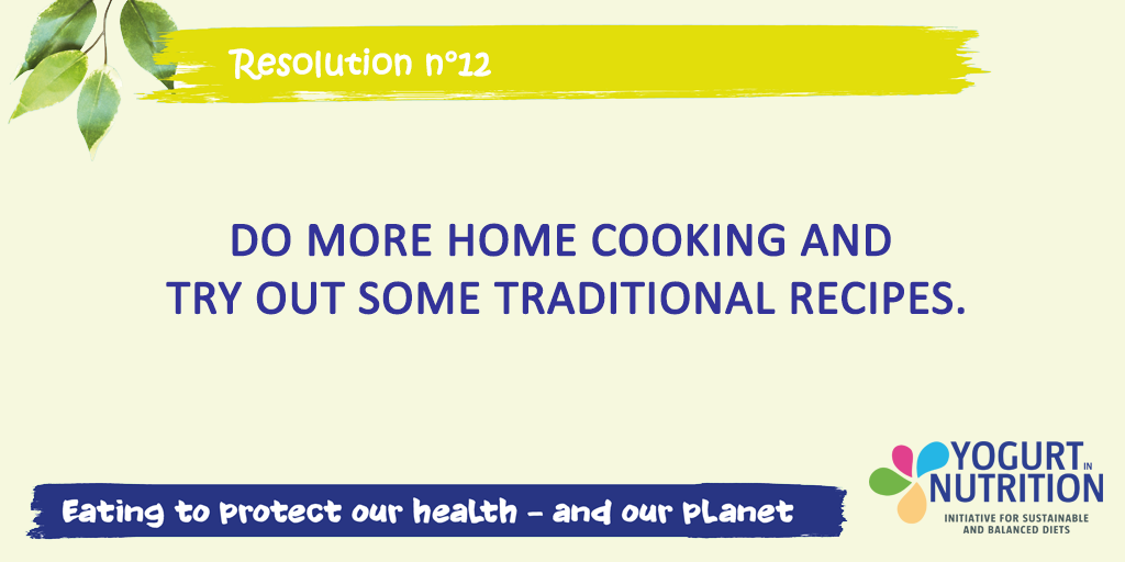 Resolution 12: try more home cooking