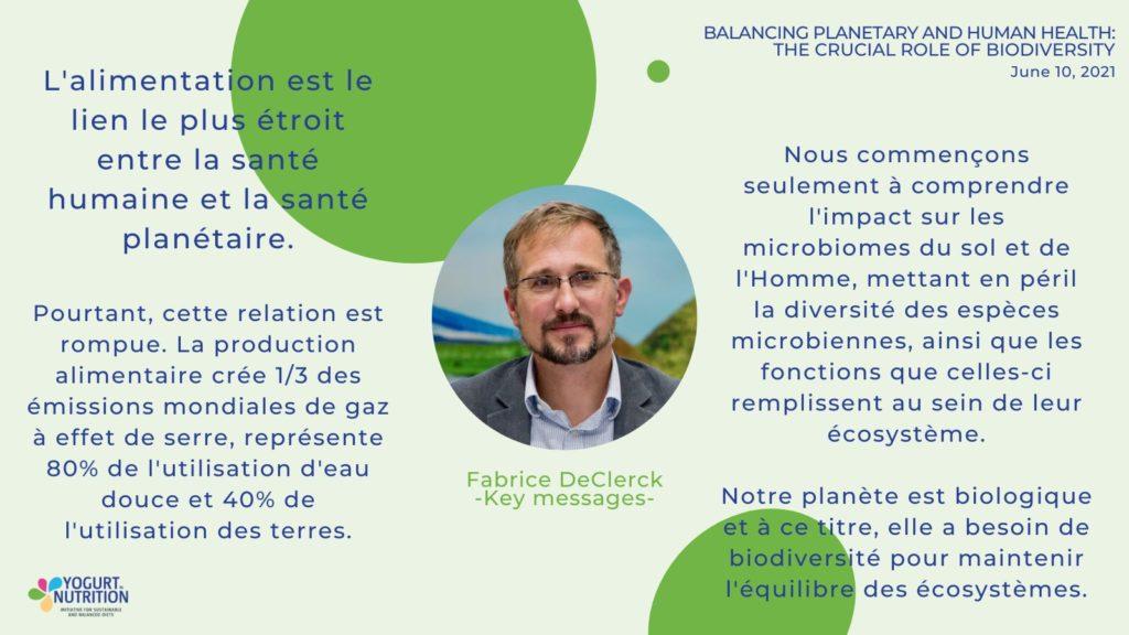 Fabrice deClerck - messages clés