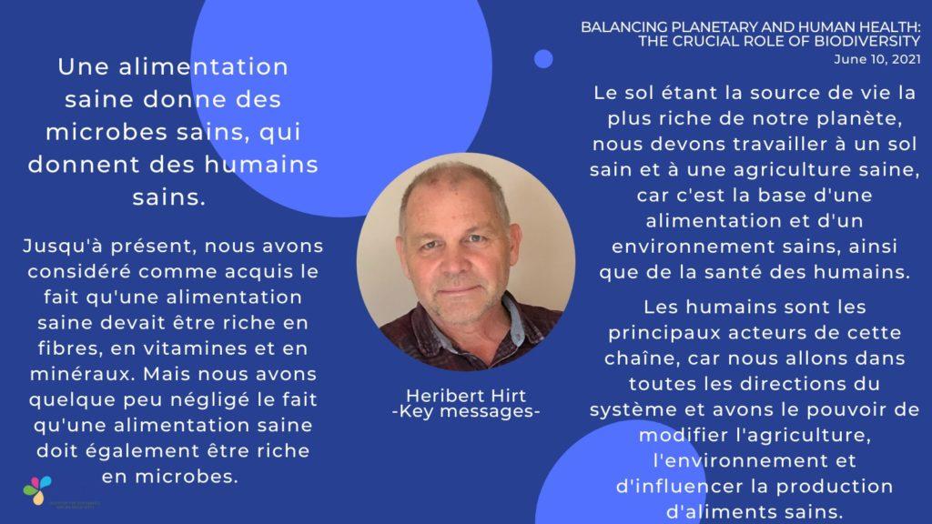 Messages clés- Heribert Hirt